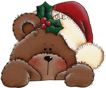 best painted bears. Bear clipart holiday