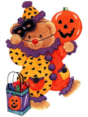 best halloween clip. Bear clipart holiday
