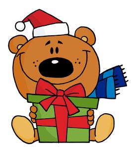 Free teddy clip art. Bear clipart holiday