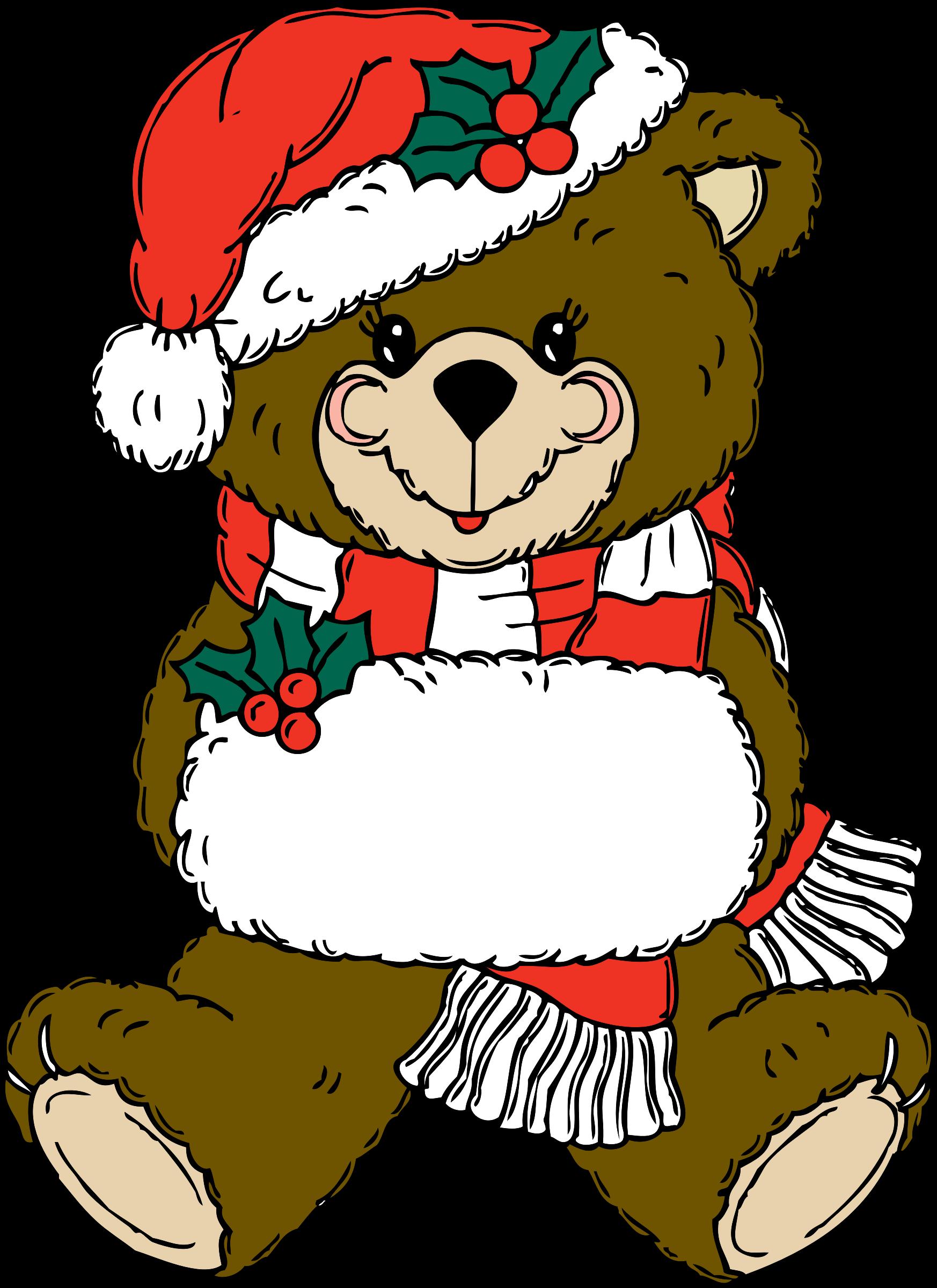 Christmas drawing at getdrawings. Bear clipart holiday