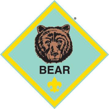 Cub scouts . Bear clipart logo