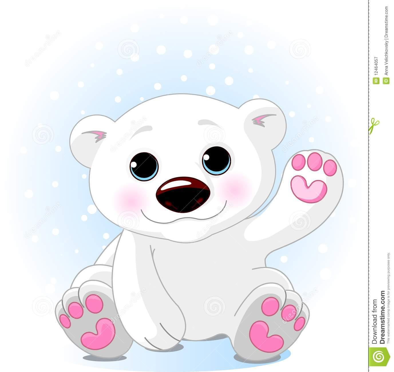 Bear clipart logo. Cute polar station