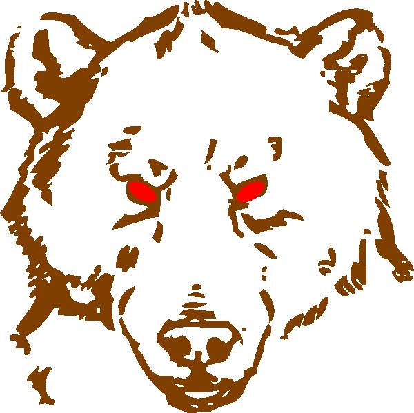 Bear clipart mad bear. Angry clip art at