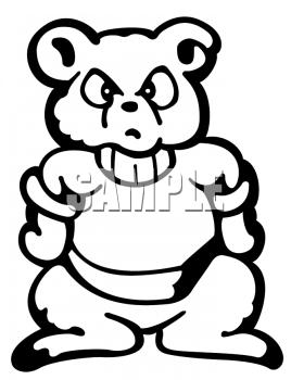 Of a little cub. Bear clipart mad bear