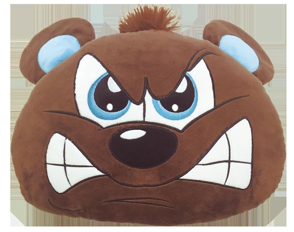 Bear clipart mad bear. My happy pillow helps