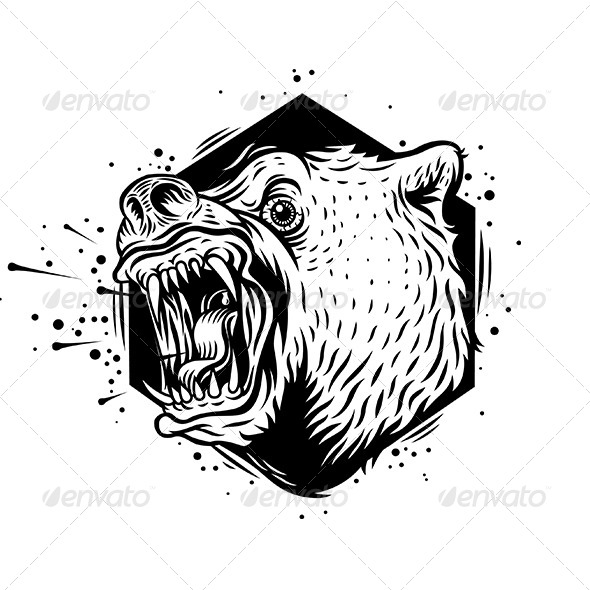 Bear clipart mad bear. Angry by kostromazation graphicriver