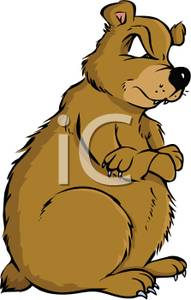 Bear clipart mad bear. Cartoon of a royalty