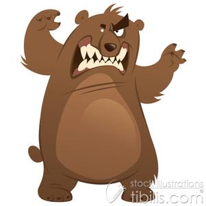 . Bear clipart mad bear