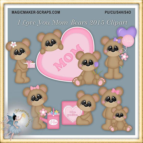 Bear clipart mothers day. Mother s teddy i