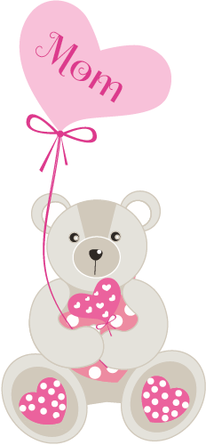 Bear clipart mothers day. Free mother s vector