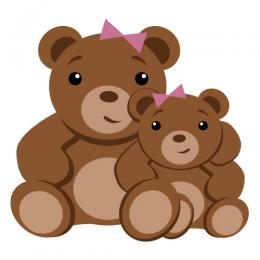 Bear clipart mothers day. Mother s clip art