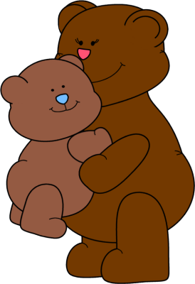 Mother s hugs clip. Bear clipart mothers day
