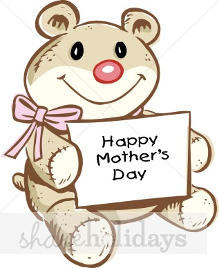 Moms mother s. Bear clipart mothers day