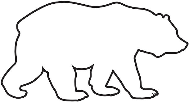Bear clipart outline. St patricks day hatenylo