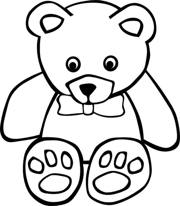 Bears clipart outline. Teddy bear drawing at