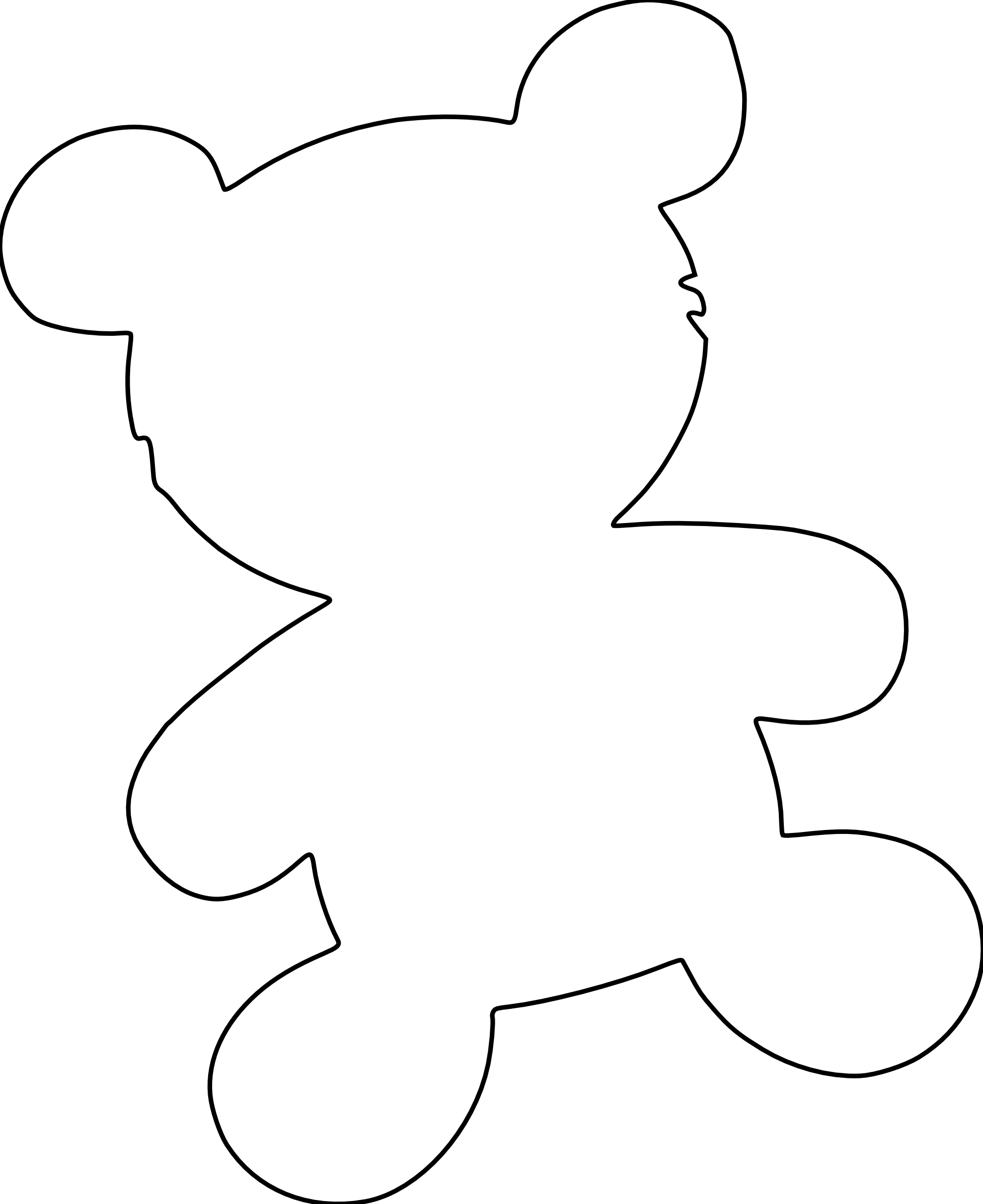 Bear clipart outline. Teddy panda free images