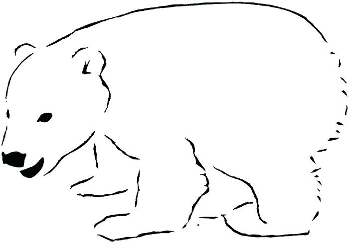 Bear clipart outline. Polar clipground download