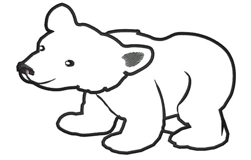 Bear clipart outline. Free of download clip