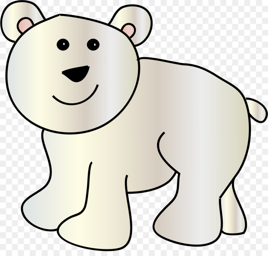 Bear clipart polar bear. Baby giant panda clip