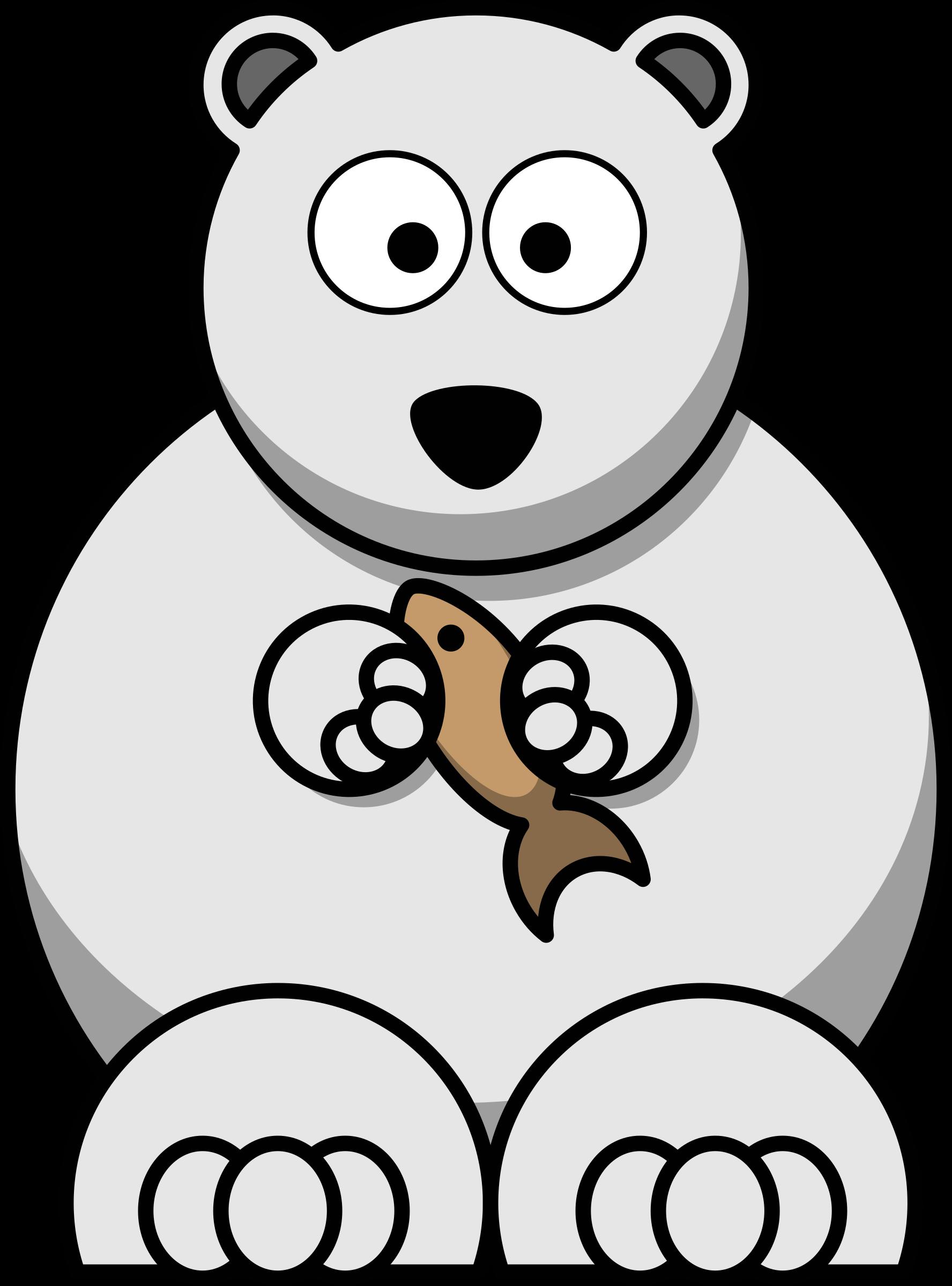Clipart bear carnivore. Cartoon polar big image