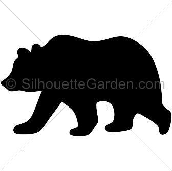 Bear clipart printable. Dinosaur silhouette at getdrawings