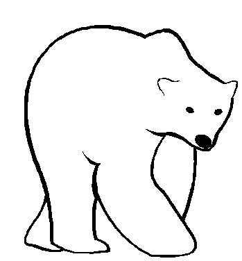 Bear clipart printable. Image of bears polar