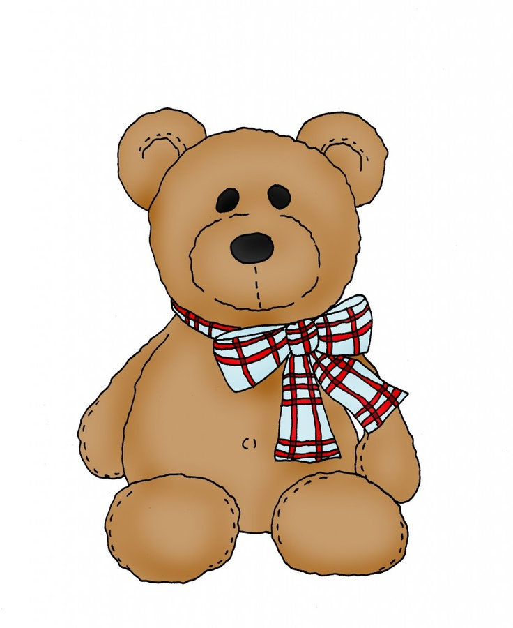 Bear clipart printable.  best teddy tags