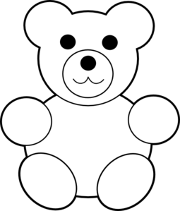 Teddy clip art at. Bear clipart printable