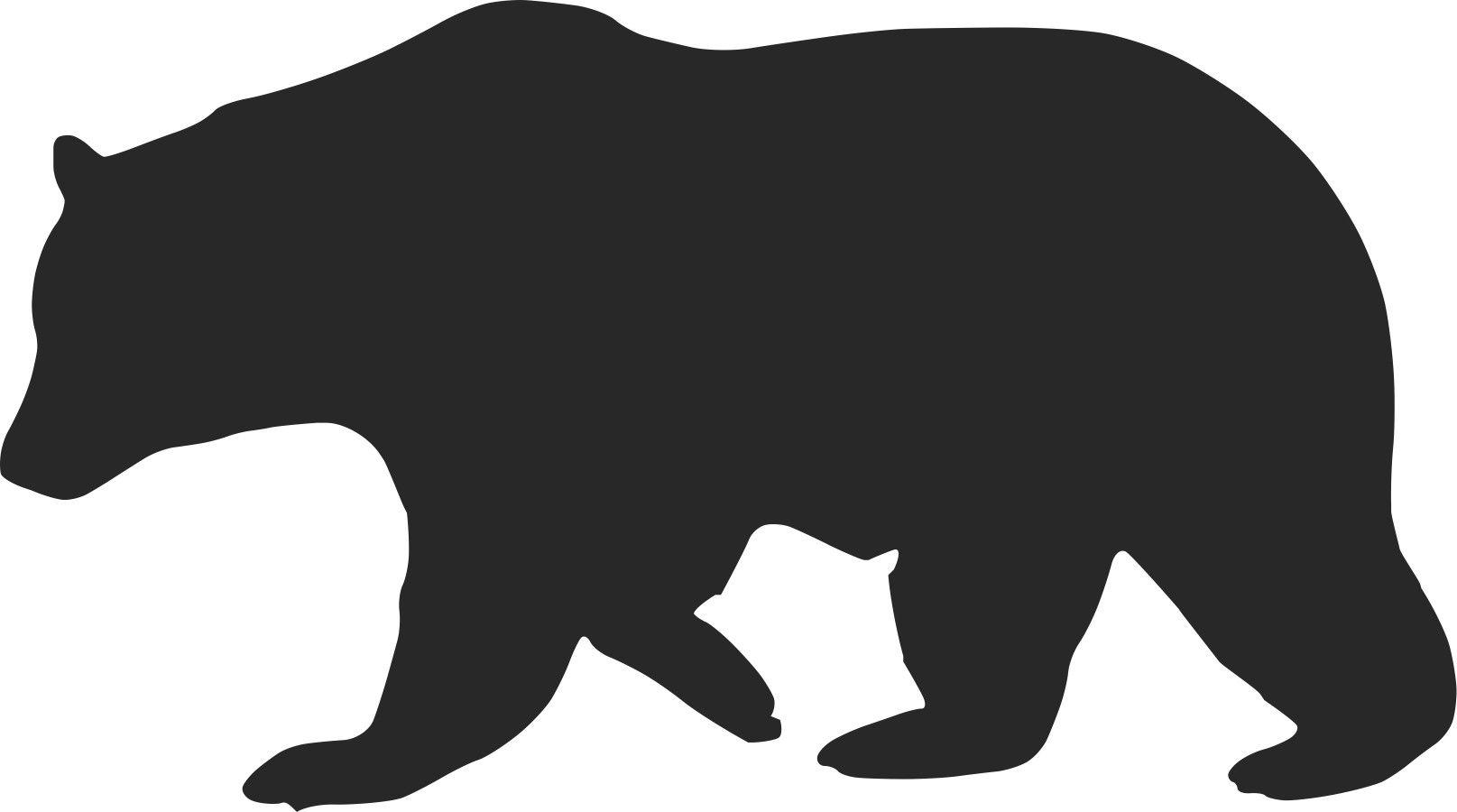 Bear clipart silhouette. Redesign california s flag