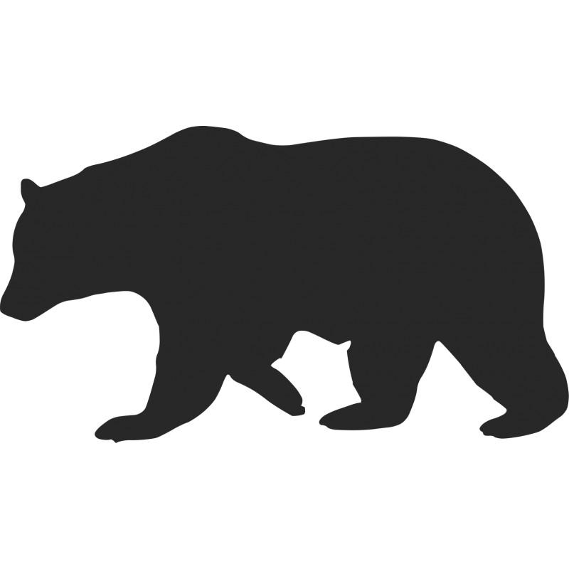 Free download clip art. Bear clipart silhouette