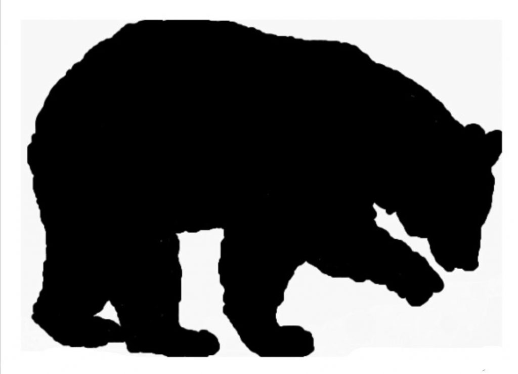 Bear clipart silhouette. Of at getdrawings com