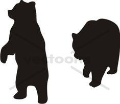 Black clip art download. Bear clipart silhouette