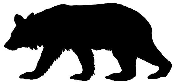 Standing panda free images. Bear clipart silhouette