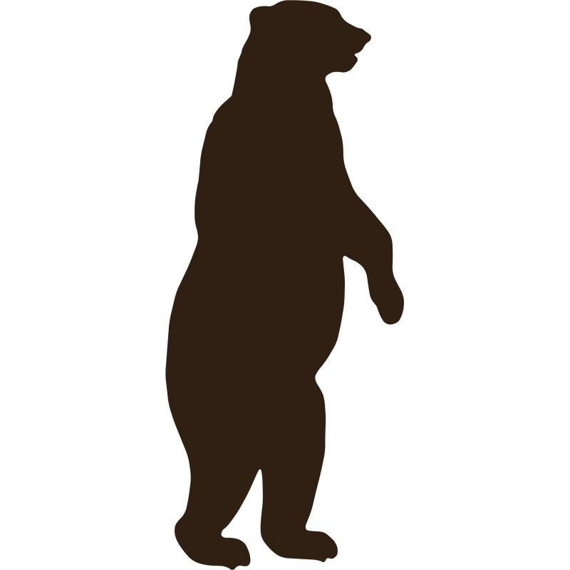 Standing grizzly images room. Bear clipart silhouette