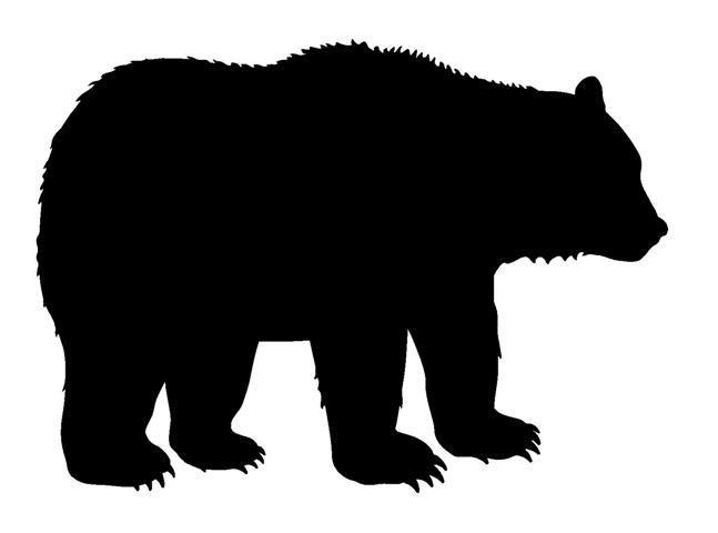 Bear clipart silhouette. Moose decor best
