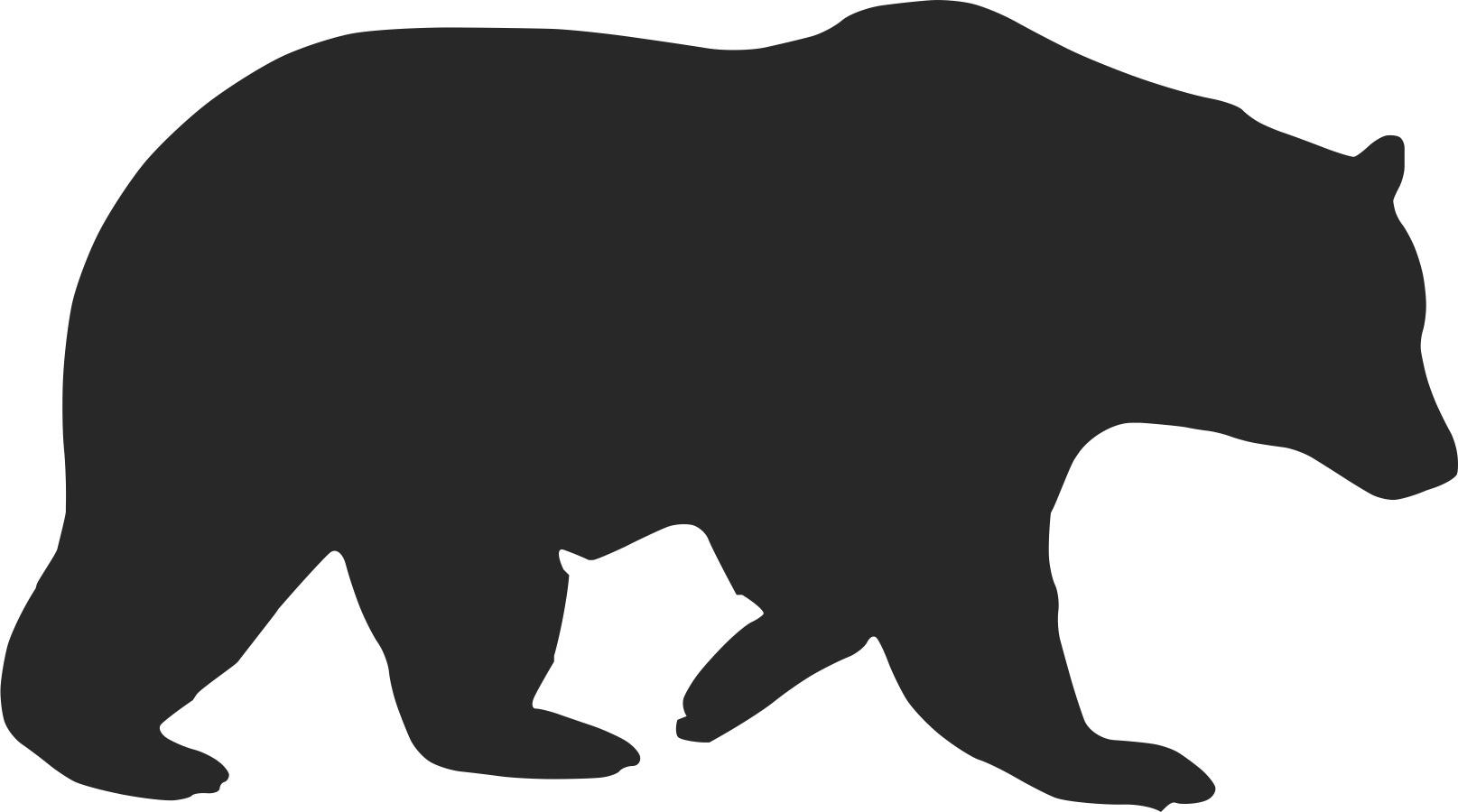 Bear clipart silhouette. Sloth at getdrawings com