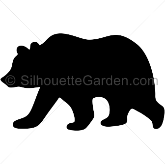 Grizzly bear clip art. California clipart silhouette