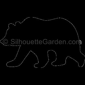 bear clipart silhouette