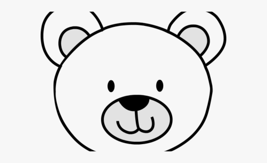 Bears clipart simple. Face polar bear drawing
