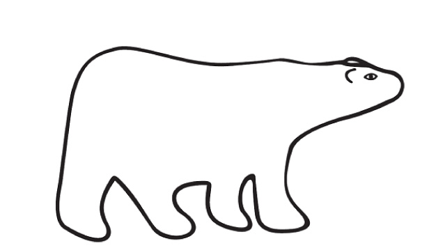 Bears clipart simple. Bear pencil and in
