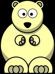 Yellow clip art at. Bear clipart spirit bear