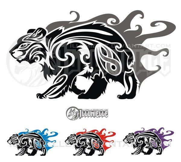 Bear clipart spirit bear.  best tattoo art