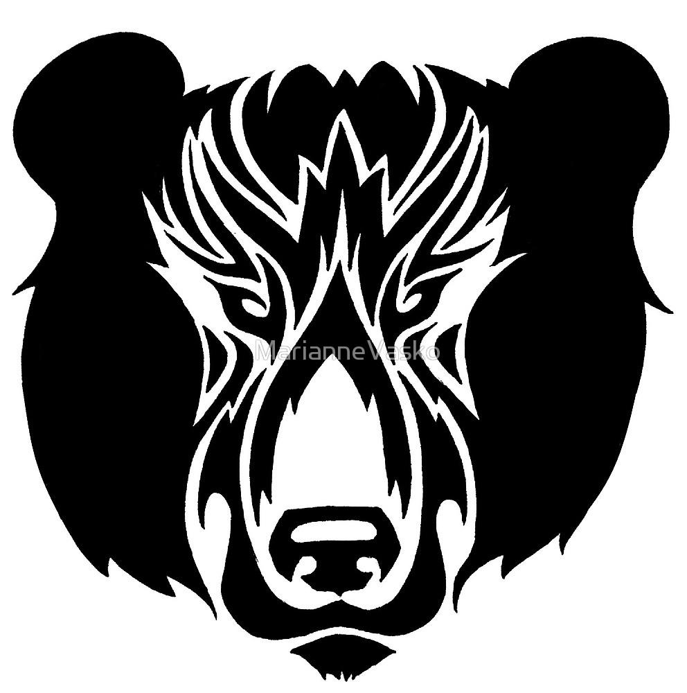 Innner by mariannevasko redbubble. Bear clipart spirit bear