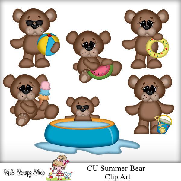 Bear clipart summer. Cu scrap and tubes