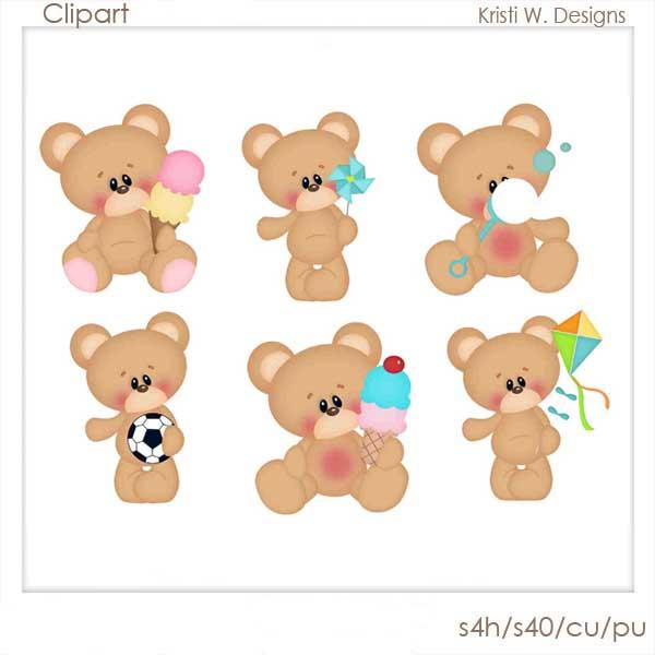 Bear clipart summer. Bears kwsc zen cart