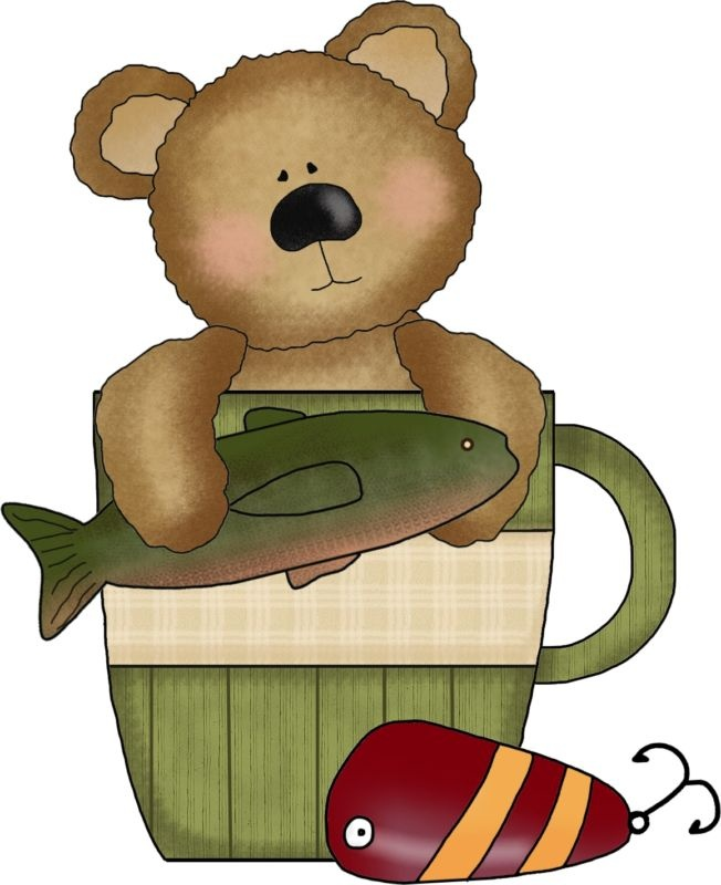 best camping hiking. Bears clipart fishing