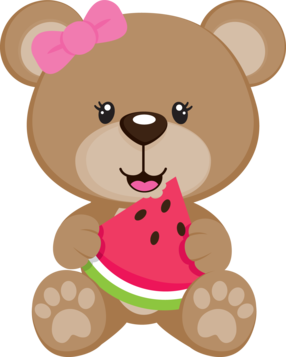 Bear clipart summer. Cute teddy clip art
