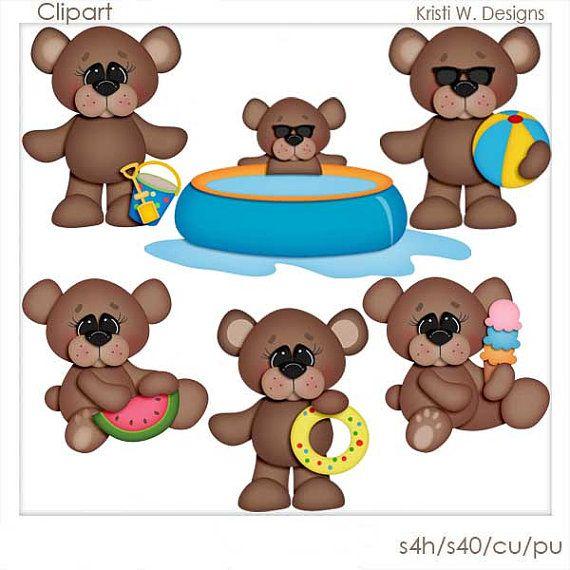 best clip art. Bear clipart summer