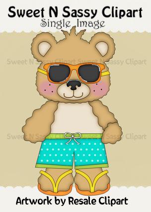 Bear clipart summer. Freebie sweet n sassy