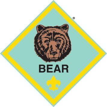 Bear clipart symbol. Cub scout logo clip